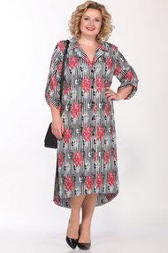 Платье Lady Secret 3664 черный с белым