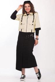 Комплект юбочный Lady Secret 1603 бежевый с черным