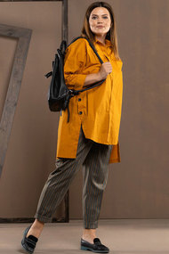 Комплект брючный Deesses 2044 желтый с серым