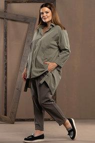 Комплект брючный Deesses 2046 серо-зеленые тона