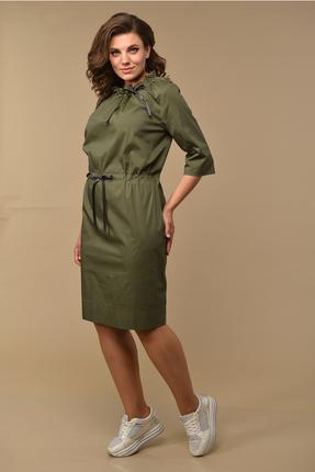 женское повседневные платье диамант, оливковое