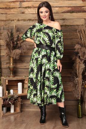 Платье Anastasia 472 черно-зеленые тона