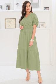 Платье Ladis Line 1209 хаки