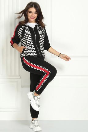 женский спортивный костюм solomeya lux, черный