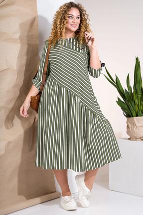 Платье Лилиана 852 хаки