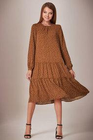 Платье Andrea Fashion AF-28/3 кофейный в горох