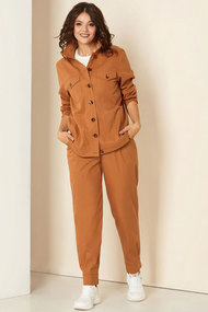 Комплект брючный Andrea Style 00296 рыжий