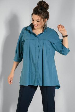 Рубашка JeRusi 2070 темно-бирюзовый