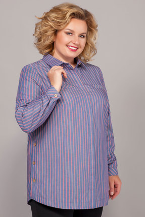 Рубашка Emilia 502/3 синие тона
