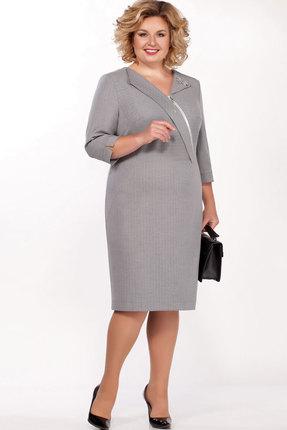 Платье Теллура-Л 1508 серый