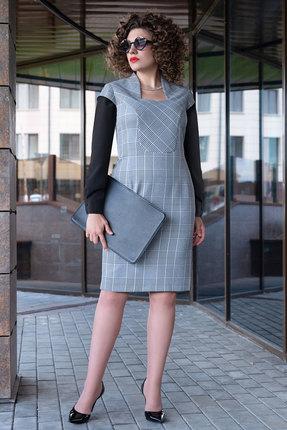 Платье Erika Style 1063 серые тона