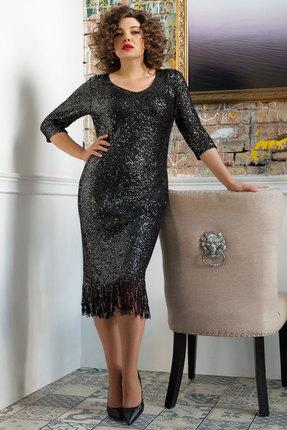 Платье Erika Style 1045 чёрные тона