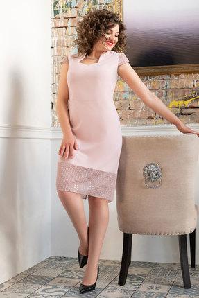 Платье Erika Style 1050-1 пудра