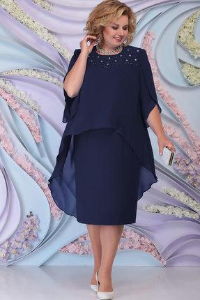 Платье Ninele 7298 тёмно-синий