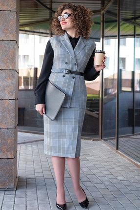 Комплект юбочный Erika Style 1041 серый