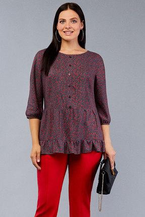 Туника Emilia 4585 серый с красным