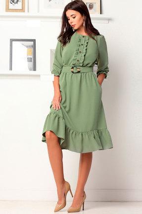 Платье Асолия 2483.1 зелёный