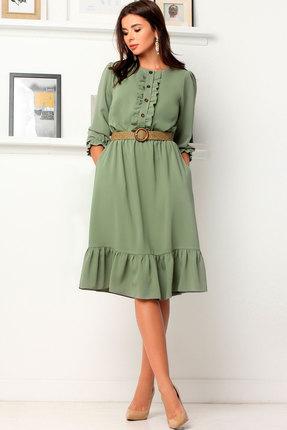 Платье Асолия 2483 зелёный