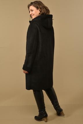 Фото 2 - Пальто Диамант 1535 черный черного цвета
