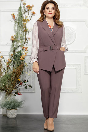 женский брючный костюм mira fashion, сиреневый