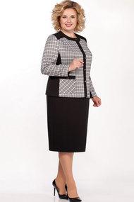 Комплект юбочный Теллура-Л 1510 серый+чёрный