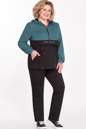 Спортивный костюм Теллура-Л 1507 чёрный+бирюзовый