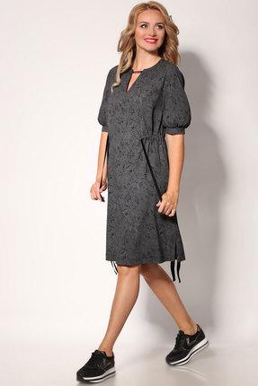Фото - Платье Angelina & Co 405 графит с черным рисунком цвет графит с черным рисунком