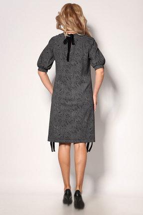 Фото 3 - Платье Angelina & Co 405 графит с черным рисунком цвет графит с черным рисунком