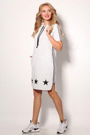 Фото 2 - Спортивное платье Angelina & Co 406 серый серого цвета