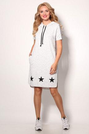 Спортивное платье Angelina & Co 406 серый