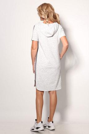 Фото 4 - Спортивное платье Angelina & Co 406 серый серого цвета