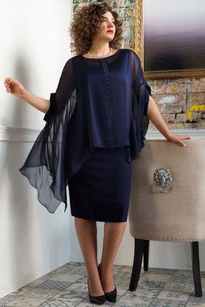 Комплект плательный Erika Style 1048 синий