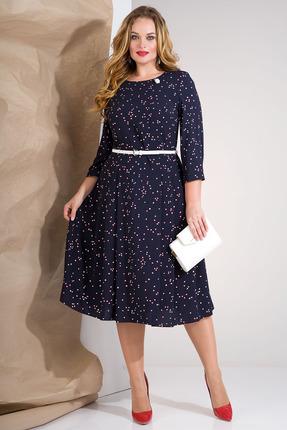 Платье Лилиана 858 темно-синий