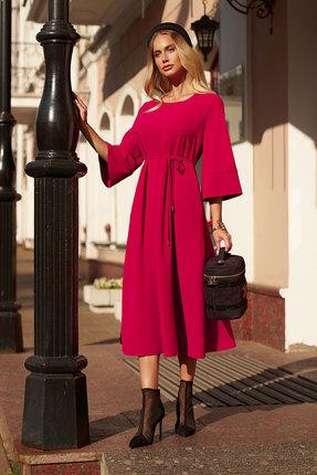 женское повседневные платье vesnaletto, фуксия