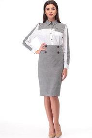 Комплект юбочный TawiFa 1026 белый+серый
