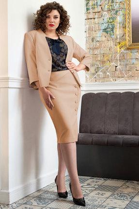 Комплект юбочный Erika Style 1023-3 горчица с синим