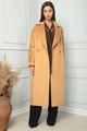 Пальто SandyNa 13814 янтарный, размер 46-54