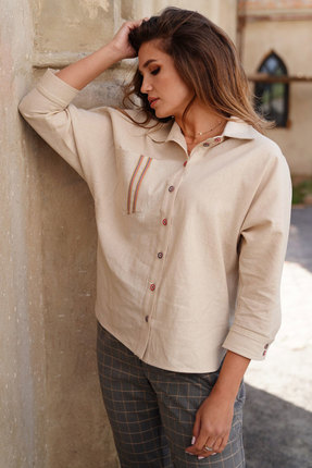 Рубашка ЛЮШе 2454 бежевый