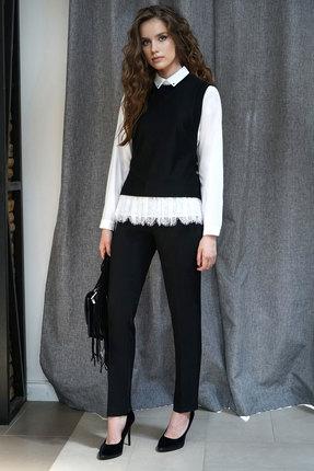 Комплект брючный Alani 1224 черный с белым