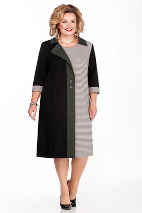 Платье Pretty 1155 черный с бежевым