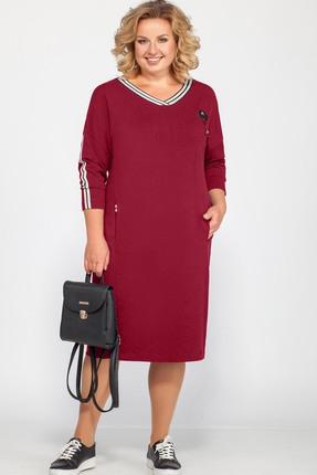 женское повседневные платье bonna image, малиновое