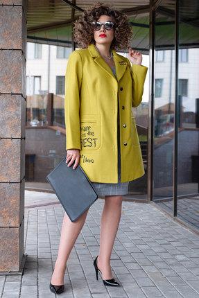 Пальто Erika Style 1054 желтый