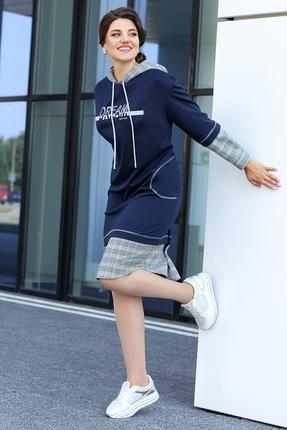Спортивное платье Мода-Юрс 2598 синий
