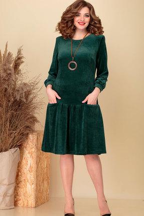 женское повседневные платье асолия, зеленое