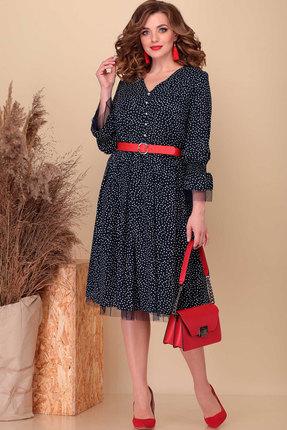 женское вечерние платье асолия, синее