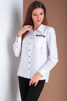 женская рубашка ксения стиль, белая