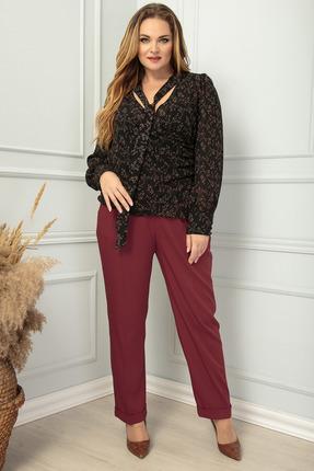 женские брюки sandyna, вишнёвые