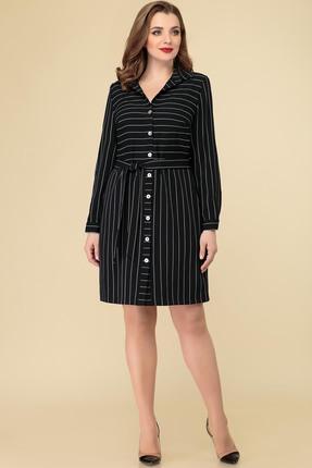 Платье Дали 4370 черный с белым
