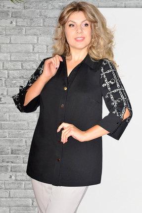 женская рубашка needle ревертекс, черная