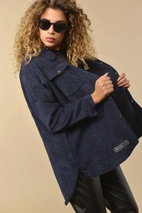 женская рубашка сч@стье, синяя